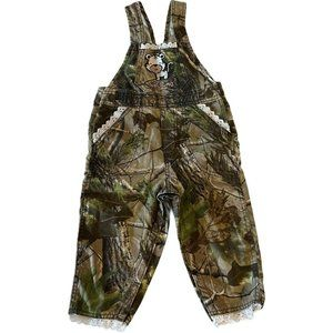 Little Kritters Camo Lace Overalls Wild One 12 Mo